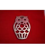 Silverplate Owl Trivet by Leonard - $16.99