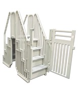 """Confer Pool Step COMPLETE Entry System w/ Locking Gate Enclosure NEW """"FA... - $746.60"""