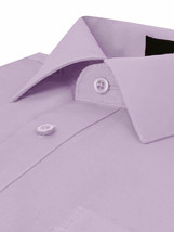 Omega Italy Men's Long Sleeve Solid Lilac Button Up Dress Shirt - S image 2