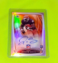 NFL JEROME SMITH AUTOGRAPHED 2014 BOWMAN CHROME ROOKIE REFRACTOR MNT - $3.59
