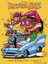 Beyond Nuts Rat Fink Big Daddy Ed Roth Metal Sign - $34.95
