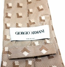100% Authentic GIORGIO ARMANI Gold tone 100%SILK Necktie Made in Italy  - $90.29