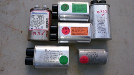 7RR09 ASSORTED CAPACITORS, 6 PACK, VERIFIED: 2100V / 0.94, 0.98, 1.00, 1... - $29.47