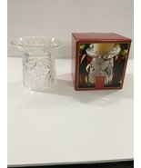 "Gorham Crystal Holiday Traditions ""Angels of Peace""  Pillar Candle Holde... - $15.99"