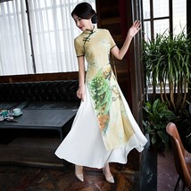 Restore Ancient Ways Improved Printing Qipao Dress Party Cultivate One's Moralit - $99.66