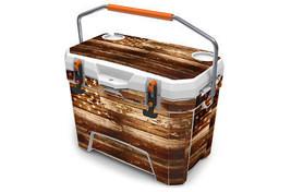 "Ozark Trail Wrap ""Fits 26qt Cooler"" 24mil Skin Full Kit USA Flag Wood - $56.95"