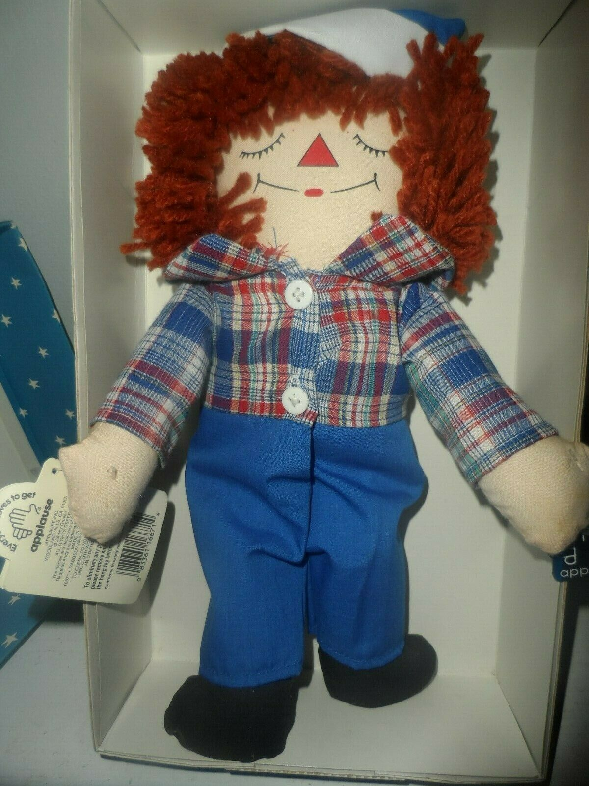 LIMITED EDITION Raggedy Andy Awake/Asleep Doll by Applause image 7