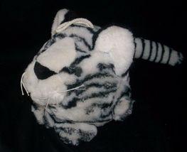 VINTAGE MAIN JOY LIMITED WHITE BLACK PURRING PURR TIGER STUFFED ANIMAL PLUSH TOY image 3
