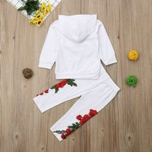 Fashion Toddler Baby Girl Floral Hooded Top Long Pants Outfits Clothes Tracksuit image 9