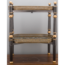 FABULOUS PORCELAIN & BRONZE TRAY TABLE ORMOLU DOUBLE TIER WOOD STAND - €836,70 EUR