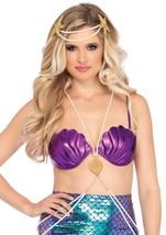 Purple Mermaid Shell Bra Top/Mermaid Festival/Halloween/Dance/by Leg Ave... - $24.95