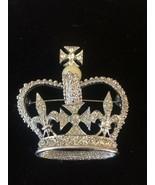 Park Lane Crown Vintage Brooch Pendant Pin Rhinestones - Signed Park Lane! - $23.45
