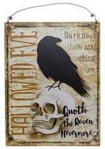 "Quoth The Raven ""Nevermore"" Decorative Hanging Plaque - $9.85"