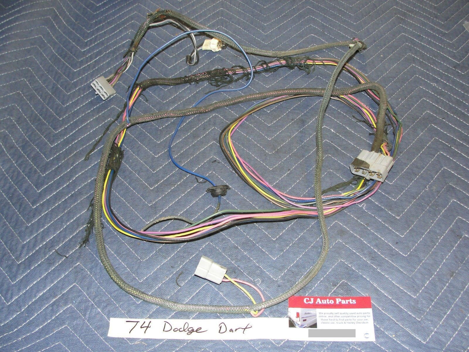 Primary image for OEM 74 Dodge Dart COMPLETE FRONT DASH TO REAR TRUNK WIRE HARNESS & FUEL SENSOR
