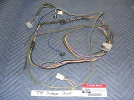 OEM 74 Dodge Dart COMPLETE FRONT DASH TO REAR TRUNK WIRE HARNESS & FUEL ... - $99.99