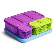 Kids Flat Lunch Blox Kit Freezer Lunch Box To-Go Food Containers Child S... - $24.98