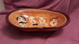 Pennsbury Pottery BARBER SHOP QUARTET Sweet Adeline Personalized Oval Bowl - $9.89