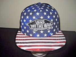 Vans Classic Patch Stars & Stripes BlackTrucker Snapback Hat Cap Free Sh... - $19.77