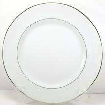 "Mikasa Citation Dinner Plate 10.5"" White Platinum Trim 5428 - $8.91"