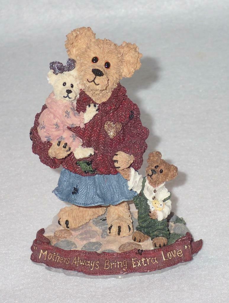 Boyd Bearstone Resin Bears Mother Macabeary With Krista & Cody Figurine #227737
