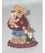 Boyd Bearstone Resin Bears Mother Macabeary With Krista & Cody Figurine ... - $9.46