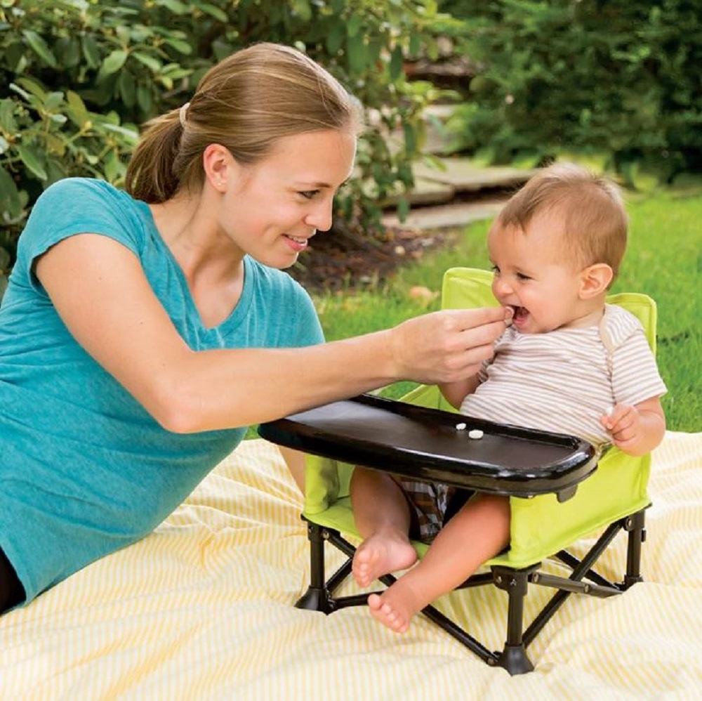 Baby Booster Seat Portable Infant Folding Chair Pop Up Travel Seating Toddler