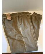 VINTAGE GENES 1891 MEN Small Slim Fit distressed DRAWSTRING brown JOGGER... - $19.99