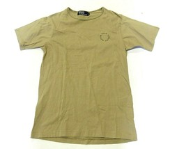 Polo by Ralph Lauren Circle Text Logo Khaki/Tan SS T-Shirt Men's Size Medium - $32.62