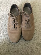 Easy Spirit Motion Anti-Gravity Suede Casual Oxfords Taupe Womens US 8.5 D - $24.95