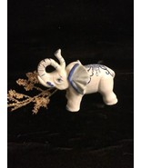 Porcelain Blue & White Elephant Figurine - $14.84