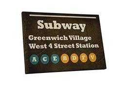 "Pingo World 1221P822JWG ""Pop 'Subway Greenwich Village'"" Gallery Wrapped Canvas  - $47.47"