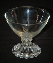 """Old Vintage Boopie Clear by Anchor Hocking Champagne / Tall Sherbet Glass 3½"""" - $9.89"""
