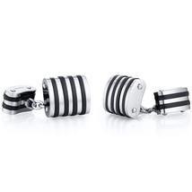 Titanium Black Stripe Chain Style Cufflinks - $59.99
