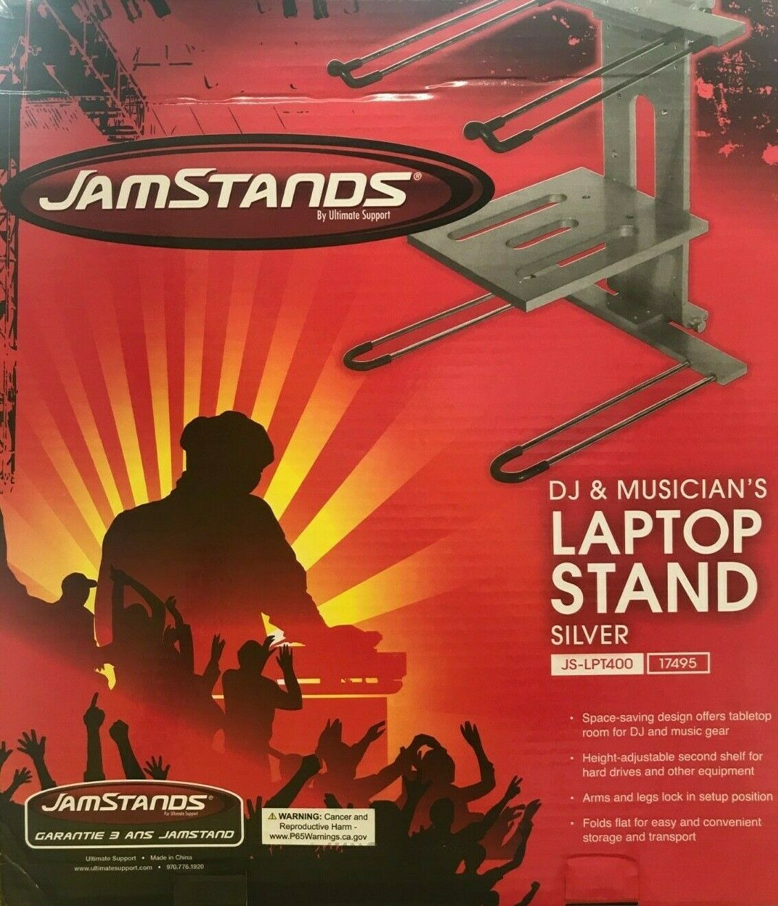 Primary image for Ultimate Support - JS-LPT400 - Laptop/DJ Stand with Stand Alone Base