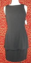 LIZ CLAIBORNE black sleeveless polyester blend 2 piece dress 8 (TC107C7G) - $19.78