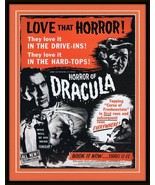 ORIGINAL Vintage 1958 Horror of Dracula 11x14 Framed Advertisement Peter... - $103.94