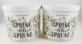 (4) Bath & Body Works White Bunny Spring Has Sprung 14.5oz 3-wick Scented Candle - $94.96