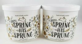 (4) Bath & Body Works White Bunny Spring Has Sprung 14.5oz 3-wick Scente... - $94.96