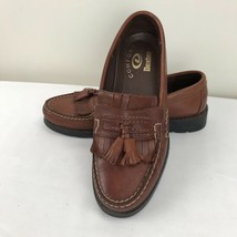 Dexter Comfort Tassel Loafers Shoes Brown Leather Low Heel Casual 7.5 M - $39.59