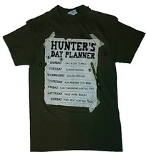 Delta Hunter's Day Planner Men's 2XL Green Pre-shrunk Cotton T-shirt NEW - $12.97