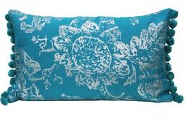 Pom-Pom Blue Cushion Cover pillow case - $24.00
