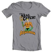 Aquaman T-shirt Retro Super Friends DC comics graphic Justice League tee DCO582 image 2