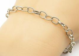 925 Sterling Silver - Vintage Petite Minimalist Rolo Link Chain Bracelet... - $26.28