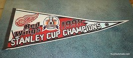 Detroit Red Wings Pennant NHL 1998 Stanley Cup Champions Collectible - $3.48