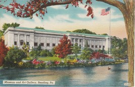 Reading Pennsylvania PA Museum and Art Gallery Postcard Linen Colourpicture - $3.53