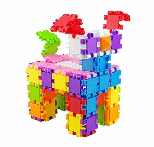 PANDA SUPERSTORE 200 Pcs Kids Plastic Building Stacking Blocks Educational Toy