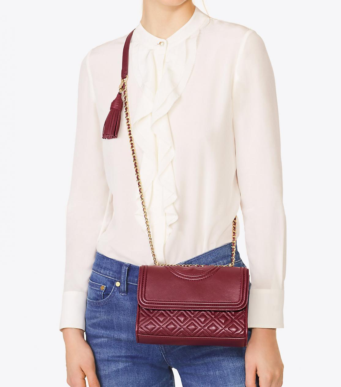 00a1399d8be7 New Original Tory Burch Fleming Small Convertible Shoulder Hand Bag For  Women