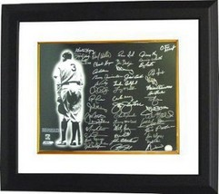 New York Yankees signed 16x20 Photo Custom Framed Babe Ruth w/ 48 sigs- ... - $374.95
