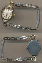 Vintage Waltham Women's Watch Pick Rolled Gold Plate Bezel Stainless Steel Back - $49.88
