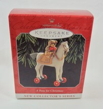 Hallmark 1998 A Pony For Christmas #1 Teddy Bear Ornament - $9.95